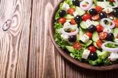 Salade de Grec de légumes frais photos libres de droits