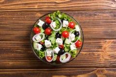 Salade de Grec de légumes frais photo stock