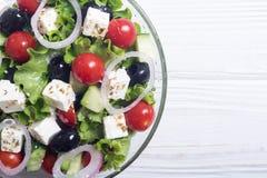 Salade de Grec de légumes frais photographie stock libre de droits