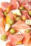 Salade de jambon photographie stock libre de droits