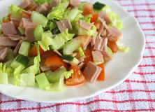 Salade de jambon Photographie stock