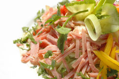 Salade de jambon Photos libres de droits