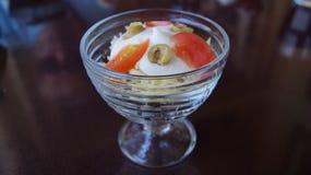 Salade de jambon avec du fromage Image stock