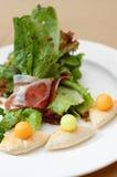 Salade de jambon de Parme Image libre de droits