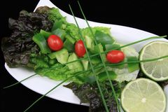 Salade de jardin photographie stock