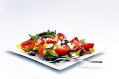 Salade de jardin avec des verts de chéri Photographie stock libre de droits