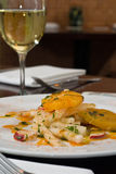 Salade de Jicama avec les oranges fraîches Images libres de droits