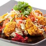 Salade de Korma de poulet Image stock
