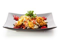 Salade de Korma de poulet Photographie stock
