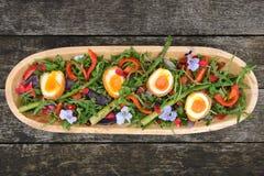 Salade de légume et d'oeufs Images libres de droits
