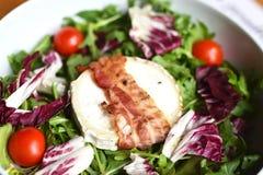 Salade de laitue avec des champignons Photos stock