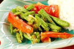 Salade de lange van de Boon (Tua Fak Yaow) Stock Foto's