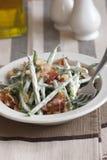 Salade de lard et d'haricot photographie stock