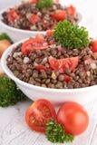 Salade de lentille Photographie stock libre de droits