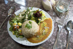 Salade de mélange avec l'aliment biologique photographie stock libre de droits