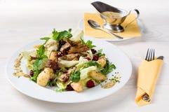 Salade de mélange avec le canard Photo stock