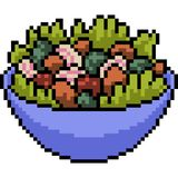 Salade de mélange d'art de pixel de vecteur Photographie stock