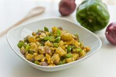 Salade de menthe de maïs Image stock