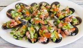 Salade de moules de Vinaigrette photos libres de droits
