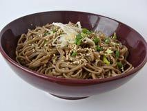 Salade de nouilles de Soba Image stock
