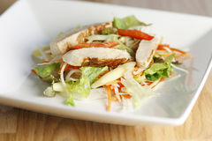 Salade de pâtes de poulet Photos libres de droits