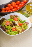 Salade de pâtes italienne de fusilli images stock