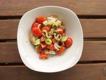 Salade de Panzanella de Toscane Photos libres de droits
