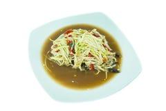 Salade de papaye d'isolement Photographie stock