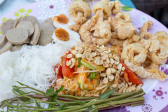 Salade de papaye, nourriture thaïlandaise Photos libres de droits