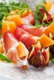 Salade de Parme de Di de Prosciutto Photographie stock libre de droits