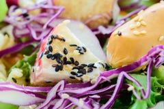 Salade de plan rapproché, nourriture pour sain Photo stock
