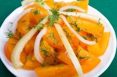 Salade de plan rapproché orange cru de tomates Photo libre de droits