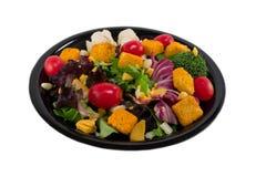 Salade de plaque noire Photos stock