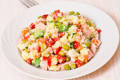 Salade de plat Photo stock