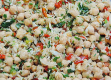 Salade de pois chiche Photos stock