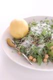 Salade de pois chiche et d'arugula (fusée) Image stock