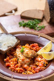 Salade de poissons et de légume photos libres de droits