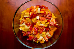 Salade de poivre Photographie stock libre de droits