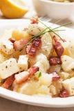 Salade de pomme de terre avec du fromage et le lard Photographie stock libre de droits