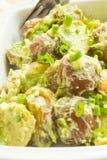 Salade de pomme de terre avec la rectification d'avocat et de crème sure photo libre de droits