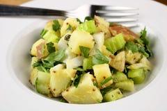 Salade de pomme de terre rouge Images stock