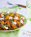 Salade de potiron image stock