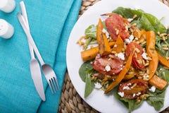 Salade de potiron de rôti Photographie stock libre de droits