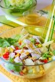 Salade de poulet Images libres de droits