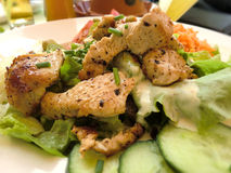 Salade de poulet Photos stock