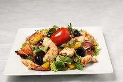 Salade de poulet avec la tomate rouge Photographie stock libre de droits