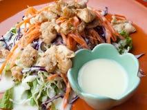Salade de poulet d'une plaque Photos libres de droits