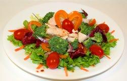 Salade de poulet de gril Photo libre de droits