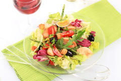 Salade de poulet et de légume Photo libre de droits