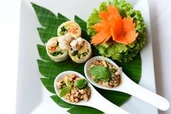 Salade de poulet et popiah épicés Photo libre de droits